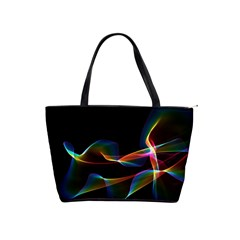 Fluted Cosmic Rafluted Cosmic Rainbow, Abstract Winds Large Shoulder Bag
