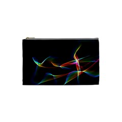 Fluted Cosmic Rafluted Cosmic Rainbow, Abstract Winds Cosmetic Bag (Small)