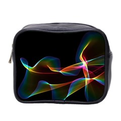 Fluted Cosmic Rafluted Cosmic Rainbow, Abstract Winds Mini Travel Toiletry Bag (two Sides)