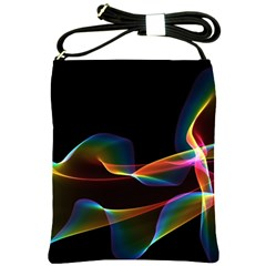 Fluted Cosmic Rafluted Cosmic Rainbow, Abstract Winds Shoulder Sling Bag