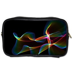 Fluted Cosmic Rafluted Cosmic Rainbow, Abstract Winds Travel Toiletry Bag (Two Sides)