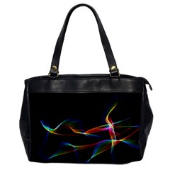 Fluted Cosmic Rafluted Cosmic Rainbow, Abstract Winds Oversize Office Handbag (one Side)