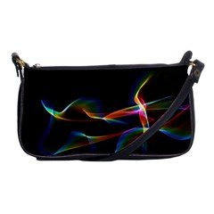Fluted Cosmic Rafluted Cosmic Rainbow, Abstract Winds Evening Bag