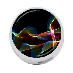 Fluted Cosmic Rafluted Cosmic Rainbow, Abstract Winds 4-Port USB Hub (One Side)