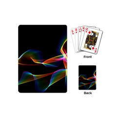 Fluted Cosmic Rafluted Cosmic Rainbow, Abstract Winds Playing Cards (mini)