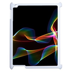 Fluted Cosmic Rafluted Cosmic Rainbow, Abstract Winds Apple iPad 2 Case (White)