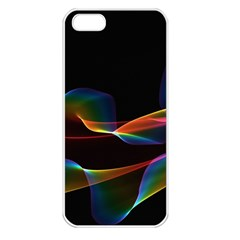 Fluted Cosmic Rafluted Cosmic Rainbow, Abstract Winds Apple iPhone 5 Seamless Case (White)