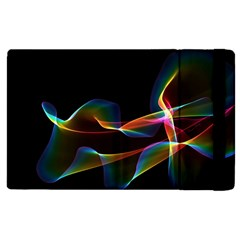 Fluted Cosmic Rafluted Cosmic Rainbow, Abstract Winds Apple iPad 2 Flip Case