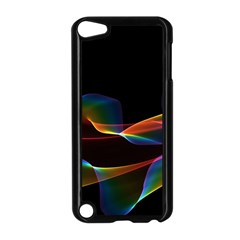Fluted Cosmic Rafluted Cosmic Rainbow, Abstract Winds Apple iPod Touch 5 Case (Black)