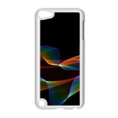 Fluted Cosmic Rafluted Cosmic Rainbow, Abstract Winds Apple iPod Touch 5 Case (White)