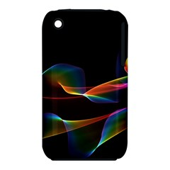 Fluted Cosmic Rafluted Cosmic Rainbow, Abstract Winds Apple iPhone 3G/3GS Hardshell Case (PC+Silicone)