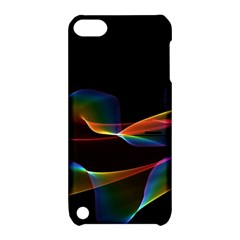 Fluted Cosmic Rafluted Cosmic Rainbow, Abstract Winds Apple iPod Touch 5 Hardshell Case with Stand