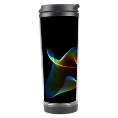 Fluted Cosmic Rafluted Cosmic Rainbow, Abstract Winds Travel Tumbler