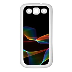 Fluted Cosmic Rafluted Cosmic Rainbow, Abstract Winds Samsung Galaxy S3 Back Case (white)