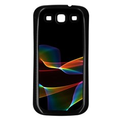 Fluted Cosmic Rafluted Cosmic Rainbow, Abstract Winds Samsung Galaxy S3 Back Case (Black)