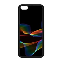 Fluted Cosmic Rafluted Cosmic Rainbow, Abstract Winds Apple iPhone 5C Seamless Case (Black)