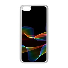 Fluted Cosmic Rafluted Cosmic Rainbow, Abstract Winds Apple iPhone 5C Seamless Case (White)