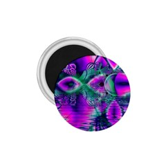 Teal Violet Crystal Palace, Abstract Cosmic Heart 1 75  Button Magnet