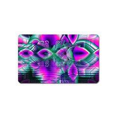Teal Violet Crystal Palace, Abstract Cosmic Heart Magnet (Name Card)
