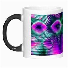 Teal Violet Crystal Palace, Abstract Cosmic Heart Morph Mug