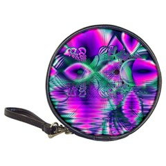 Teal Violet Crystal Palace, Abstract Cosmic Heart CD Wallet