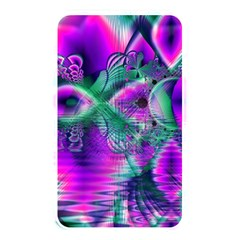 Teal Violet Crystal Palace, Abstract Cosmic Heart Memory Card Reader (Rectangular)