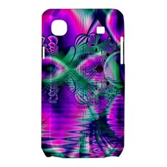 Teal Violet Crystal Palace, Abstract Cosmic Heart Samsung Galaxy SL i9003 Hardshell Case