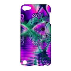 Teal Violet Crystal Palace, Abstract Cosmic Heart Apple iPod Touch 5 Hardshell Case