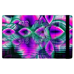 Teal Violet Crystal Palace, Abstract Cosmic Heart Apple iPad 3/4 Flip Case
