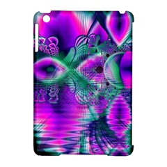 Teal Violet Crystal Palace, Abstract Cosmic Heart Apple Ipad Mini Hardshell Case (compatible With Smart Cover)