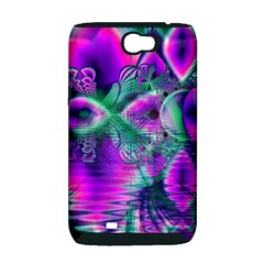 Teal Violet Crystal Palace, Abstract Cosmic Heart Samsung Galaxy Note 2 Hardshell Case (PC+Silicone)