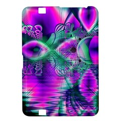 Teal Violet Crystal Palace, Abstract Cosmic Heart Kindle Fire HD 8.9  Hardshell Case