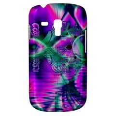 Teal Violet Crystal Palace, Abstract Cosmic Heart Samsung Galaxy S3 MINI I8190 Hardshell Case