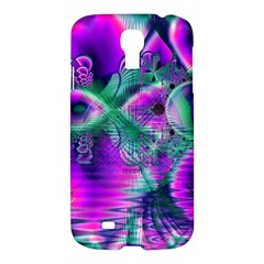 Teal Violet Crystal Palace, Abstract Cosmic Heart Samsung Galaxy S4 I9500/I9505 Hardshell Case