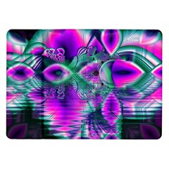 Teal Violet Crystal Palace, Abstract Cosmic Heart Samsung Galaxy Tab 10.1  P7500 Flip Case