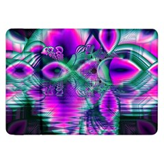 Teal Violet Crystal Palace, Abstract Cosmic Heart Samsung Galaxy Tab 8.9  P7300 Flip Case