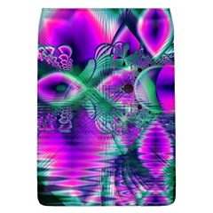 Teal Violet Crystal Palace, Abstract Cosmic Heart Removable Flap Cover (large)
