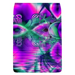 Teal Violet Crystal Palace, Abstract Cosmic Heart Removable Flap Cover (Small)