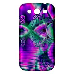 Teal Violet Crystal Palace, Abstract Cosmic Heart Samsung Galaxy Mega 5 8 I9152 Hardshell Case