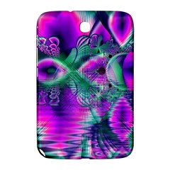 Teal Violet Crystal Palace, Abstract Cosmic Heart Samsung Galaxy Note 8.0 N5100 Hardshell Case