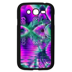 Teal Violet Crystal Palace, Abstract Cosmic Heart Samsung Galaxy Grand DUOS I9082 Case (Black)