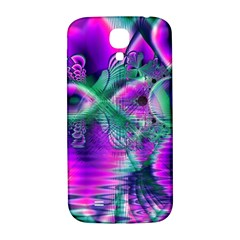 Teal Violet Crystal Palace, Abstract Cosmic Heart Samsung Galaxy S4 I9500/I9505  Hardshell Back Case