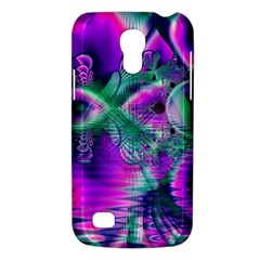 Teal Violet Crystal Palace, Abstract Cosmic Heart Samsung Galaxy S4 Mini (GT-I9190) Hardshell Case