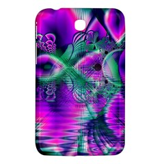 Teal Violet Crystal Palace, Abstract Cosmic Heart Samsung Galaxy Tab 3 (7 ) P3200 Hardshell Case