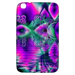 Teal Violet Crystal Palace, Abstract Cosmic Heart Samsung Galaxy Tab 3 (8 ) T3100 Hardshell Case