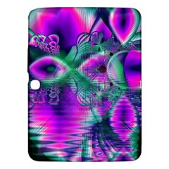 Teal Violet Crystal Palace, Abstract Cosmic Heart Samsung Galaxy Tab 3 (10 1 ) P5200 Hardshell Case