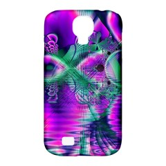 Teal Violet Crystal Palace, Abstract Cosmic Heart Samsung Galaxy S4 Classic Hardshell Case (PC+Silicone)