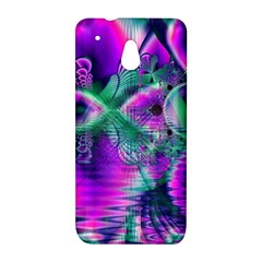 Teal Violet Crystal Palace, Abstract Cosmic Heart HTC One mini Hardshell Case