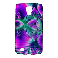Teal Violet Crystal Palace, Abstract Cosmic Heart Samsung Galaxy S4 Active (I9295) Hardshell Case
