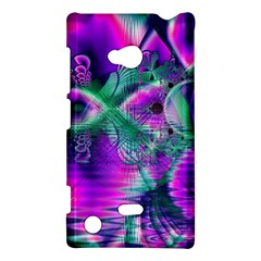 Teal Violet Crystal Palace, Abstract Cosmic Heart Nokia Lumia 720 Hardshell Case